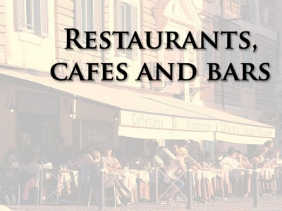 Restaurants, Cafes and Bars